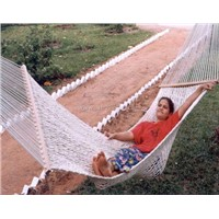 Rope sleeping hammock