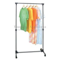 SINGLE-POLE TELESCOPIC CLOTHES CLOTHES HANGER