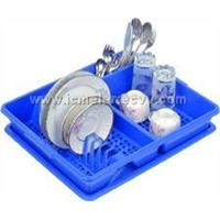 Plastic Plate Spoon Fork Glass Stand