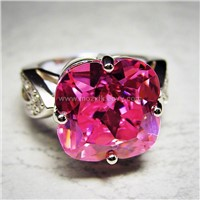 Pink Diamante Ring