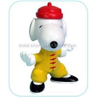 "3"" Static Kung Fu Snoopy In Blister Card"