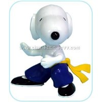 "3"" Static Kung Fu Snoopy In PVC Bucket"