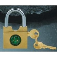 brass lateral open padlock