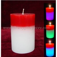 Column Shape Two Colors Candle