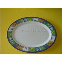 Melamine Oval Plate(Plate Bowl Spoon Cup Ashtray)
