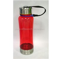 PC bottle with stainless steel trims