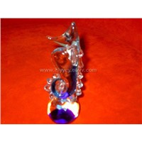 little crystal glass sea horse