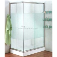 Shower door tempered glass