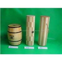 Round Wooden Box - Wooden Items