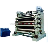 Four-roller paper pressing machine
