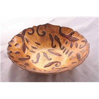 gild glass bowl