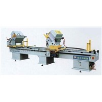 Double mitre saw for aluminum profile