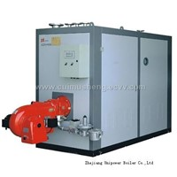 Gas-fired vacuum hot water boiler