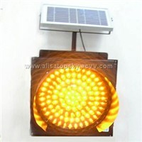 Solar traffic warning lights