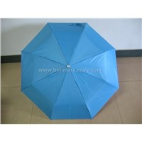 3-fold Mini Silver Reflective Coating Unbrella