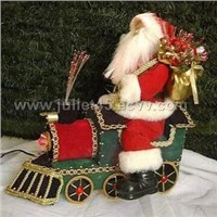 12 Inches Fiber Optic Santa Claus, Available in Various Designs