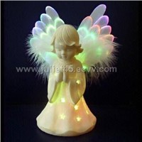 7-inch Fiber Optic Angel, Powered by Button Battery