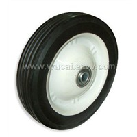 Semi-pneumatic rubber wheels