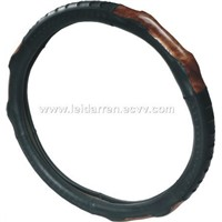 crown leather steering wheel cover