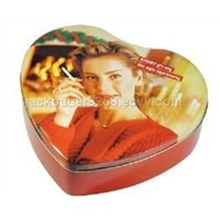Heart-shaped chocolate tin,chocolate box