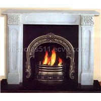 Cast Iron Fireplace Insert And Marble Frame And Granite Hearth And Fireplace Accessory