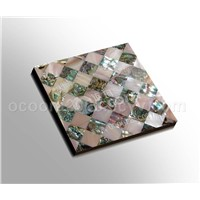 Shell Tile (Pink shell & Abalone shell)