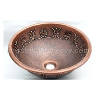Sell double bowl copper sinks and basins