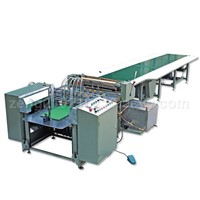 AUTOMATIC GLUING AND GIFT BOX PACKING MACHINE