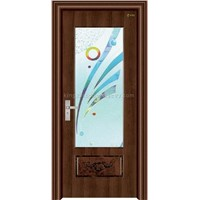 Steel-Wood Interior Door (jkd-2009)