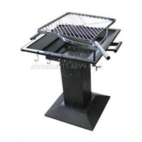 cast iron barbecue(barbeque) grill and barbecue tool