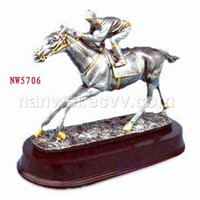 polyresin horse statue
