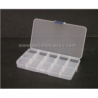 15 Compartment Plastic Translucent  Storage Box