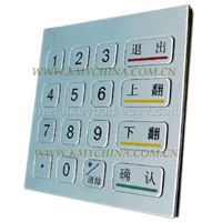 metal keypad ,EPP,3DES pinpad,Metal keyboard