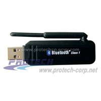 Class 1 USB Bluetooth Dongle with Antenna