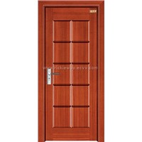 Natural wooden door