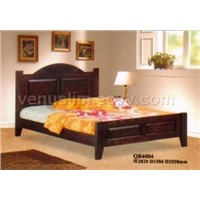 rubber wood bed