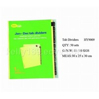 stationery set, tab dividers