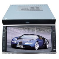 2-DIN size in-car DVD entertainment system
