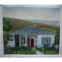 Realistic Oil Painting - House