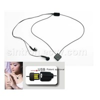 Necklace MP3 player with Touch Pad