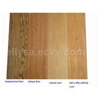 antique / drawbenched solid wood floorings
