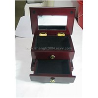 the double-deck jewelry wooden box