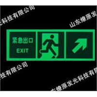luminescent safety signs