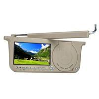 "7"" swivel TFT LCD monitor with DVD player"