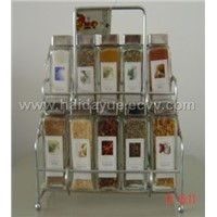 spice bottle and rack