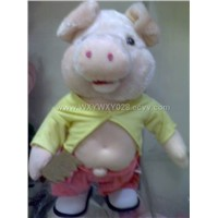 PIG WITH MUSICER (CAN MOVE)