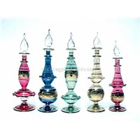 Mouth Blown Glass Decorative Perfume Bottles