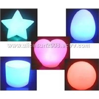 1203 Flashing Rainbow Star/heart