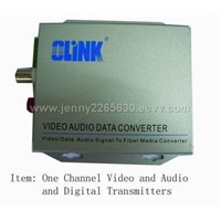 One Channel Audio andVideo and Digital Transmiter