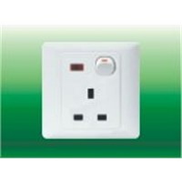 Three-pin British Flush Socket with One Gang Switc